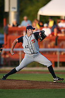 August 31, 2009:  Pitcher Phillip Irwin of the State College Spikes during a game at Frontier Field in Rochester, NY.  State College is the NY-Penn League affiliate of the Pittsburgh Pirates.  Photo By Mike Janes/Four Seam Images
