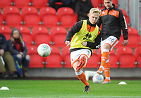 Blackpool's Mark Cullen during the pre-match warm-up <br /> <br /> Photographer Kevin Barnes/CameraSport<br /> <br /> Emirates FA Cup First Round - Exeter City v Blackpool - Saturday 10th November 2018 - St James Park - Exeter<br />  <br /> World Copyright © 2018 CameraSport. All rights reserved. 43 Linden Ave. Countesthorpe. Leicester. England. LE8 5PG - Tel: +44 (0) 116 277 4147 - admin@camerasport.com - www.camerasport.com