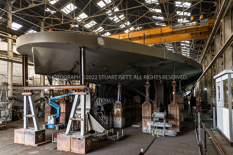 January 14th, 2016 &mdash; Seattle, WA, USA<br /> <br /> <br /> The Chimicum, a 144-car ferry being built at Vigor Fab in Seattle WASH., completion expected March 2017.<br /> <br /> Vigor has assembled a team of leading Puget Sound shipyards to build new, large ferries for Washington State Ferries (WSF), the largest ferry system in the United States.  The Tokitae, the first of three144-car ferries, was delivered in June 2014.  The Samish was delivered in April 2015.  Vigor teams began working on the third ferry, the Chimacum, at the end of 2014 and delivery is scheduled for early 2017<br /> <br /> Photograph by Stuart Isett<br /> &copy;2015 Stuart Isett. All rights reserved.
