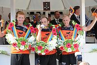 KAATSEN: FRANEKER: It Sjûkelân, 30-07-2014, PC (Permanente Commissie), invaller Jacob Wassenaar, Daniël Iseger (Koning),Gert Anne  van der Bos, ©foto Martin de Jong
