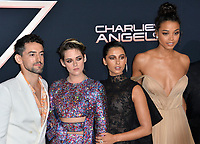 "LOS ANGELES, USA. November 12, 2019: Luis Gerardo Mendez, Kristen Stewart, Naomi Scott & Ella Balinska at the world premiere of ""Charlie's Angels"" at the Regency Village Theatre.<br /> Picture: Paul Smith/Featureflash"
