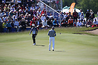 Henrik Stenson (SWE) putts out on the 8th during Round Two of the 2015 Nordea Masters at the PGA Sweden National, Bara, Malmo, Sweden. 05/06/2015. Picture David Lloyd | www.golffile.ie