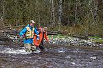 Hoh River, Hoh River Trust, The Nature Conservancy, TNC, Ryan Haugo, Emily Howe, biologists assessing river habitat, Noland Creek, spring, 2017 Olympic Peninsula, Washington State, Pacific Northwest, USA,