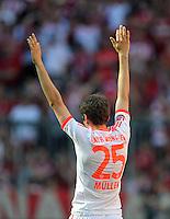FUSSBALL   1. BUNDESLIGA  SAISON 2011/2012   33. Spieltag FC Bayern Muenchen - VfB Stuttgart       28.04.2012 Thomas Mueller (FC Bayern Muenchen)