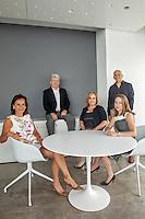 From left, Barbara Apple Sullivan, founder &amp; managing partner, Val McGovern, partner &amp; CFO, Nancy Schulman, partner &amp; executive director of strategy, John Paolini, partner &amp; executive creative director, Nicole Ferry, partner &amp; executive director of strategy<br /> <br /> Photo by Danny Ghitis