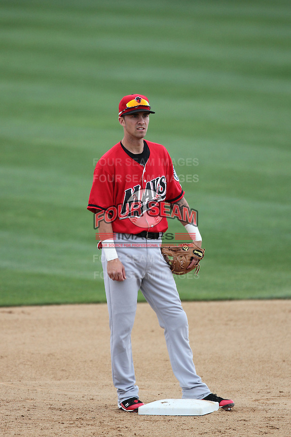 Nick Franklin #4 of the High Desert Mavericks during game against the Rancho Cucamonga Quakes at The Epicenter in Rancho Cucamonga,California on May 8, 2011. Photo by Larry Goren/Four Seam Images
