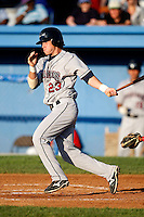 July 27, 2009:  Second Baseman Casey Frawley of the Mahoning Valley Scrappers during a game at Dwyer Stadium in Batavia, NY.  Mahoning Valley is the NY-Penn League Short-Season Class-A affiliate of the Cleveland Indians.  Photo By Mike Janes/Four Seam Images
