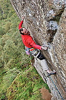 Dave Macleod on 'Ring of Steall' 8c+, Steall Crag, Glen Nevis, Scotland