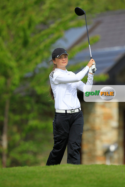 Sophie Lamb (ENG) on the 7th tee during Round 1 of the Irish Women's Open Strokeplay Championship at Dun Laoghaire Golf Club on Saturday 23rd May 2015.<br /> Picture:  Thos Caffrey / www.golffile.ie