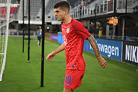 WASHINGTON D.C. - OCTOBER 11: Christian Pulisic #10 of the United States during warm up prior to their Nations League game versus Cuba at Audi Field, on October 11, 2019 in Washington D.C.