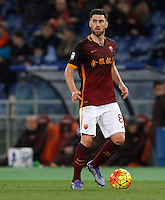 Calcio, Serie A: Roma vs Sampdoria. Roma, stadio Olimpico, 7 febbraio 2016.<br /> Roma&rsquo;s Ervin Zukanovic in action during the Italian Serie A football match between Roma and Sampdoria at Rome's Olympic stadium, 7 January 2016.<br /> UPDATE IMAGES PRESS/Riccardo De Luca
