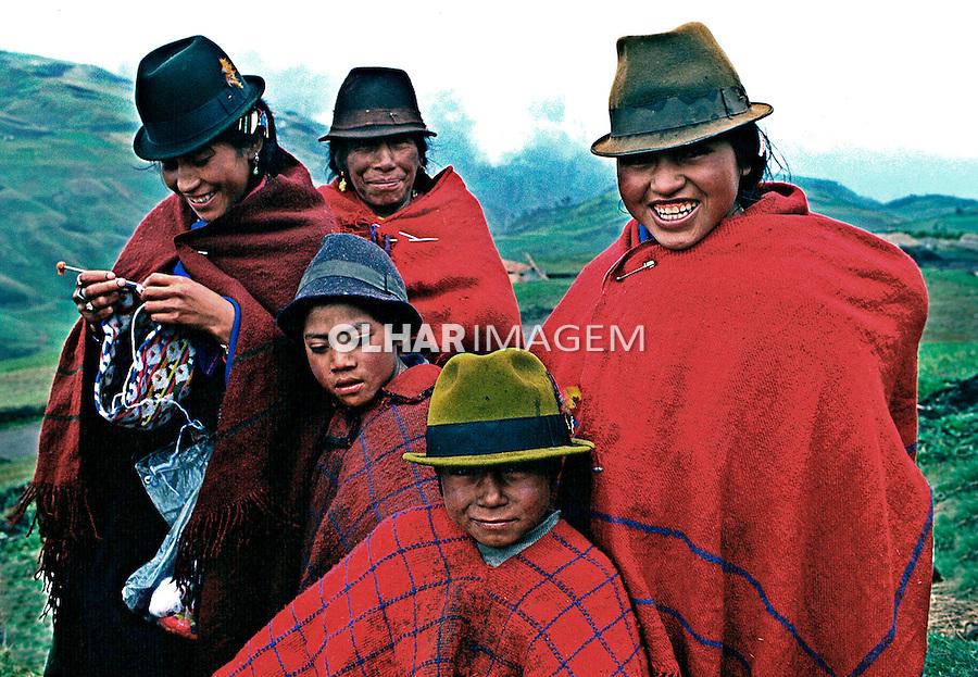 População indígena da Cordilheira dos Andes, Equador. Foto de Juca Martins. Data: 1987.