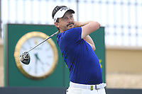 Mike Lorenzo-Vera (FRA) on the 18th tee during the 1st round of  the Saudi International powered by Softbank Investment Advisers, Royal Greens G&CC, King Abdullah Economic City,  Saudi Arabia. 30/01/2020<br /> Picture: Golffile | Fran Caffrey<br /> <br /> <br /> All photo usage must carry mandatory copyright credit (© Golffile | Fran Caffrey)