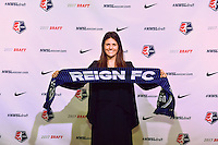 Los Angeles, CA - Thursday January 12, 2017: Madeline Bauer during the 2017 NWSL College Draft at JW Marriott Hotel.