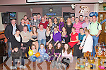 21ST BIRTHDAY: Mark Jones, Currow (seated 4th left) enjoying a great time celebrating his 21st birthday with a large group of family and friends at O'Riada's restaurant and bar, Ballymac on Friday.