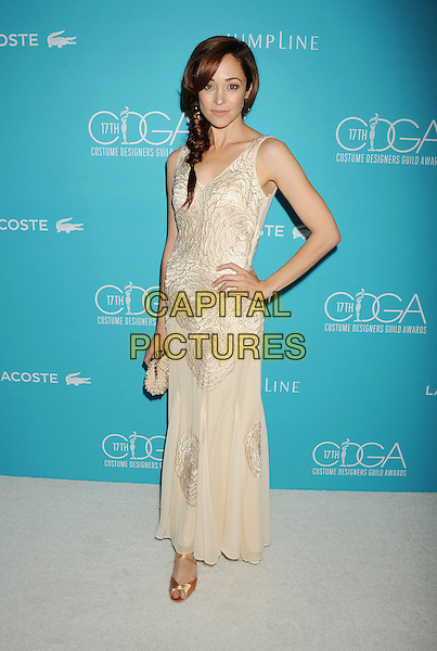 BEVERLY HILLS, CA - FEBRUARY 17: Actress Autumn Reeser attends the 17th Costume Designers Guild Awards at The Beverly Hilton Hotel on February 17, 2015 in Beverly Hills, California.<br /> CAP/ROT/TM<br /> &copy;TM/ROT/Capital Pictures