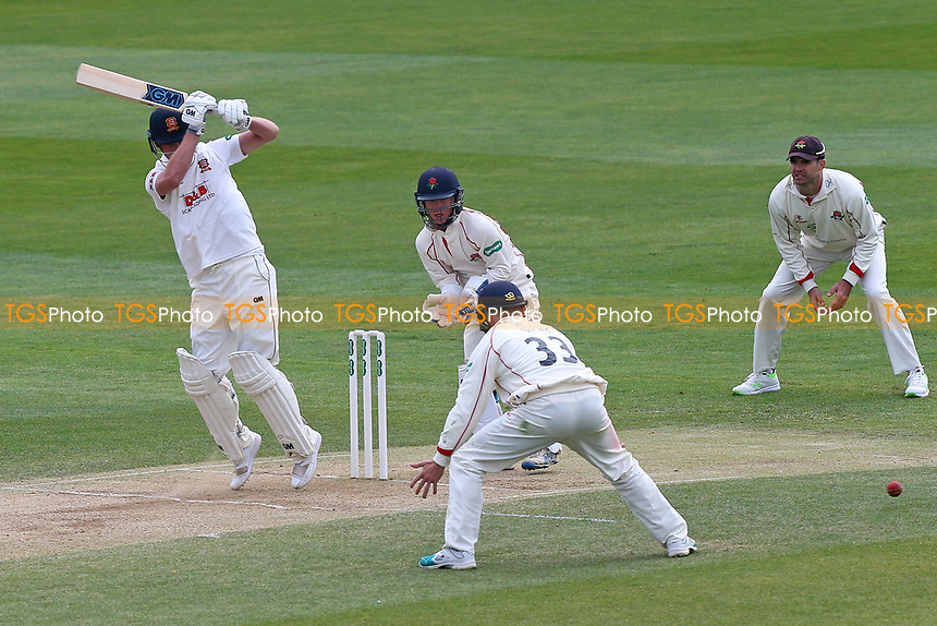 Tom Westley of Essex works the ball through the close fielders during Essex CCC vs Lancashire CCC, Specsavers County Championship Division 1 Cricket at The Cloudfm County Ground on 10th April 2017