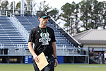 12 February 2017: CSU head coach Dylan Sheridan. The Duke University Blue Devils hosted the Cleveland State University Vikings at Koskinen Stadium in Durham, North Carolina in a 2017 Division I College Men's Lacrosse match. Duke won the game 22-7 in overtime.