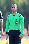 24 June 2014: Assistant referee Mark Cahen. The Carolina RailHawks of the North American Soccer League played the Los Angeles Galaxy of Major League Soccer at Koka Booth Stadium at WakeMed Soccer Park in Cary, North Carolina in the fifth round of the 2014 Lamar Hunt U.S. Open Cup soccer tournament. The RailHawks won the game 1-0 in overtime.