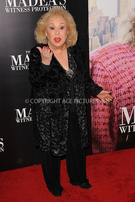 WWW.ACEPIXS.COM . . . . . .June 25, 2012...New York City....Doris Roberts arriving to Tyler Perry's 'Madea's Witness Protection' New York Premiere at AMC Lincoln Square Theater on June 25, 2012 in New York City ....Please byline: KRISTIN CALLAHAN - ACEPIXS.COM.. . . . . . ..Ace Pictures, Inc: ..tel: (212) 243 8787 or (646) 769 0430..e-mail: info@acepixs.com..web: http://www.acepixs.com .