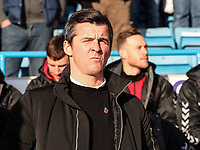 Fleetwood Town's manager Joey Barton <br /> <br /> Photographer Andrew Kearns/CameraSport<br /> <br /> The EFL Sky Bet League One - Gillingham v Fleetwood Town - Saturday 3rd November 2018 - Priestfield Stadium - Gillingham<br /> <br /> World Copyright &copy; 2018 CameraSport. All rights reserved. 43 Linden Ave. Countesthorpe. Leicester. England. LE8 5PG - Tel: +44 (0) 116 277 4147 - admin@camerasport.com - www.camerasport.com