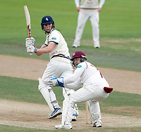 Zak Crawley bats for Kent during the County Championship Division Two (day 3) game between Kent and Northants at the St Lawrence ground, Canterbury, on Sept 4, 2018.