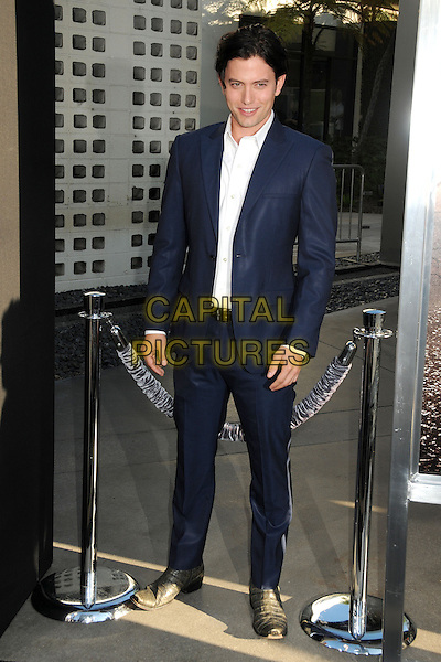 Jackson Rathbone<br /> &quot;The Conjuring&quot; Los Angeles Premiere held at the Cinerama Dome, Hollywood, California, USA.<br /> July 15th, 2013<br /> full length blue suit white shirt  <br /> CAP/ADM/BP<br /> &copy;Byron Purvis/AdMedia/Capital Pictures