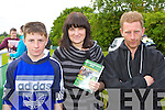 Mike Mulvihill, Elaine O'Connor and Mike Mulvihill Snr Listowel looking for winners at the Castleisland Races on Sunday