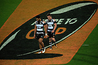 Cardiff Vaega and Brad Weber are subbed off during the Mitre 10 Cup rugby union match between Wellington Lions and Hawkes Bay Magpies at Westpac Stadium, Wellington, New Zealand on Wednesday, 6 September 2017. Photo: Dave Lintott / lintottphoto.co.nz
