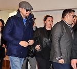 Leonardo DiCaprio and Jonah Hil, Jan 27, 2014 :  Tokyo, Japan : Actors Leonardo DiCaprio(L) and Jonah Hill arrive at Tokyo International Airport in Tokyo, Japan, on January 27, 2014.