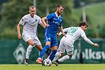 13.07.2019, Parkstadion, Zell am Ziller, AUT, FSP, Werder Bremen vs. Darmstadt 98<br /> <br /> im Bild<br /> Felix Beijmo (Werder Bremen #02), <br /> Marcel Heller (Darmstadt 98 #20), <br /> Simon Straudi (Werder Bremen #26), <br /> im zweiten Spiel von drei auf 30 Min, <br /> <br /> Foto © nordphoto / Ewert