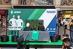 06.08.2019, Bremer Hauptbahnhof, Bremen, GER, 1.FBL, Mohammed Harkous MoAuba - FIFA eWorld Cup-Champion 2019<br /> <br /> im Bild<br /> Stand von Werder eSports zum Empfang des Weltmeisters, Fans und Interessierte spielten FIFA 19 auf PS4 Konsole gegeneinander, <br /> <br /> Foto © nordphoto / Ewert