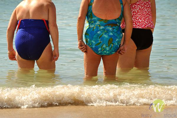 Westin Resort, St. John, USVI, Caribbean. Adult woman torsos.