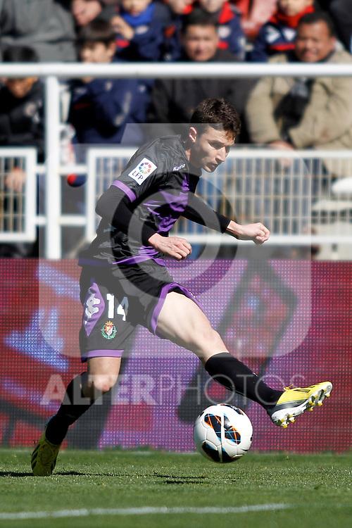 Real Valladolid's Omar Ramos during La Liga  match. February 24,2013.(ALTERPHOTOS/Alconada)