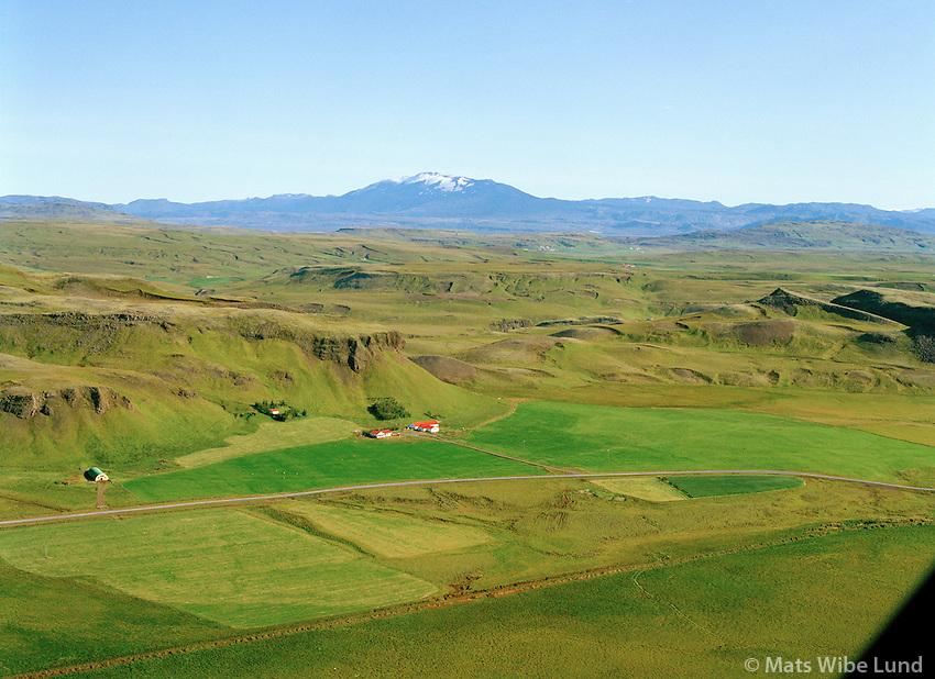 Núpstún séð til austurs, Hrunamannahreppur / Nupstun viewing east, Hrunamannahreppur.