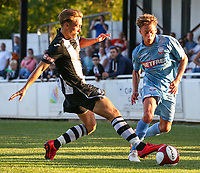 Bolton Wanderers' Stephen Duke-McKenna takes on Atherton Collieries' Ben Conway<br /> <br /> Photographer Alex Dodd/CameraSport<br /> <br /> Football Pre-Season Friendly - Atherton Collieries v Bolton Wanderers - Tuesday 10th July 2018 - Alder House - Atherton<br /> <br /> World Copyright &copy; 2018 CameraSport. All rights reserved. 43 Linden Ave. Countesthorpe. Leicester. England. LE8 5PG - Tel: +44 (0) 116 277 4147 - admin@camerasport.com - www.camerasport.com