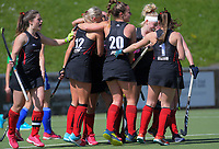 Action from the women's National Hockey League match between Auckland and Canterbury at National Hockey Stadium in Wellington, New Zealand on Saturday, 22 September 2018. Photo: Dave Lintott / lintottphoto.co.nz