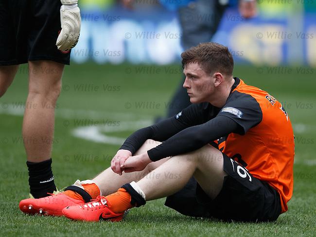 Dundee Utd dejection: Andrew Robertson