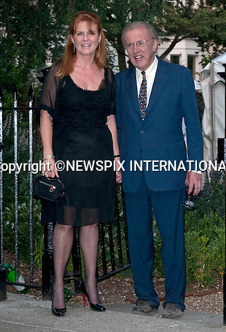 "SARAH FERGUSON AND DAVID FROST.David Frost's annual party attended by Royalty; Celebrities and Politicians, London_02/07/2009.Mandatory Photo Credit: ©Dias/Newspix International..**ALL FEES PAYABLE TO: ""NEWSPIX INTERNATIONAL""**..PHOTO CREDIT MANDATORY!!: NEWSPIX INTERNATIONAL(Failure to credit will incur a surcharge of 100% of reproduction fees)..IMMEDIATE CONFIRMATION OF USAGE REQUIRED:.Newspix International, 31 Chinnery Hill, Bishop's Stortford, ENGLAND CM23 3PS.Tel:+441279 324672  ; Fax: +441279656877.Mobile:  0777568 1153.e-mail: info@newspixinternational.co.uk"