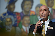 Washington, DC - January 11, 2014: Businessman and D.C. mayoral candidate Andy Shallal holds a community forum at the Union Temple Baptist Church in advance of the April primary.  (Photo by Don Baxter/Media Images International)