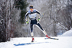 10 MAR 2016:  Mads Stroem (13) of the University of Colorado competes in the 10K skate during the NCAA Division I Men's and Women's Skiing Championships take place at Howelsen Hill Ski Area in Steamboat Springs, CO.    Stroem won the national title with a 22:06.8 time.  Jamie Schwaberow/NCAA Photos