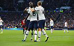 Tottenham's Davinson Sanchez (C) celebrates after scoring to make it 2-0 which is then disallowed by VAR during the Premier League match at the Tottenham Hotspur Stadium, London. Picture date: 30th November 2019. Picture credit should read: Paul Terry/Sportimage