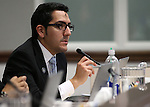 Nevada Assemblyman Nelson Araujo, D-Las Vegas, works in committee at the Legislative Building in Carson City, Nev., on Wednesday, Feb. 18, 2015. <br /> Photo by Cathleen Allison