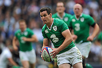 Jonathan Sexton of Ireland in possession. QBE International match between England and Ireland on September 5, 2015 at Twickenham Stadium in London, England. Photo by: Patrick Khachfe / Onside Images