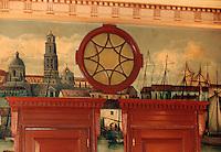 "Cuba/La Havane: Détail décoration du bar ""el Floridita"" - Calle Obispo 557, esquina a Monserrate - La Habana Vieja"