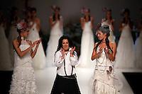 BARCELONA, ESPANHA, 09 DE MAIO 2012 - BARCELONA BRIDAL WEEK  - GRIFE INMACULADA GARCIA - Modelo durante desfile da grife Inmaculada Garcia no segundo dia do Barcelona Bridal Week, o maior evento de moda nupcial da Europa e um dos maiores do mundo, em Barcelona, nesta quarta-feira, 09. (FOTO: WILLIAM VOLCOV / BRAZIL PHOTO PRESS).