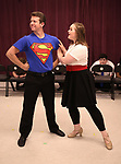 Dominic Wintz and Maddi O'Connell during the Children's Theatre of Cincinnati presentation for composer Charles Strouse of 'Superman The Musical' at Ripley Grier Studios on June 8, 2018 in New York City.