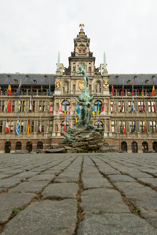 Belgium, Antwerp, Town Hall, Stadhuis, in City Square, Grote Markt
