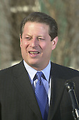 United States Vice President Al Gore talks with reporters outside of his residence at the United States Naval Observatory in Washington, DC on November 28, 2000.<br /> Credit: Ron Sachs / CNP