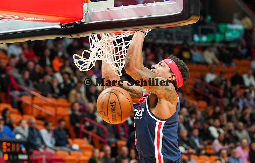 Dunking Beal Bradley (G, Washington Wizards, #3)4) - 22.01.2020: Miami Heat vs. Washington Wizards, American Airlines Arena